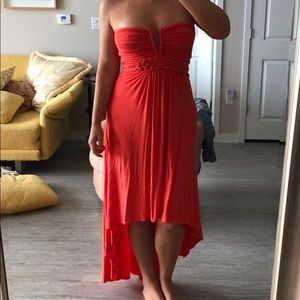 Sky High Low Strapless Braided Dress Size Medium